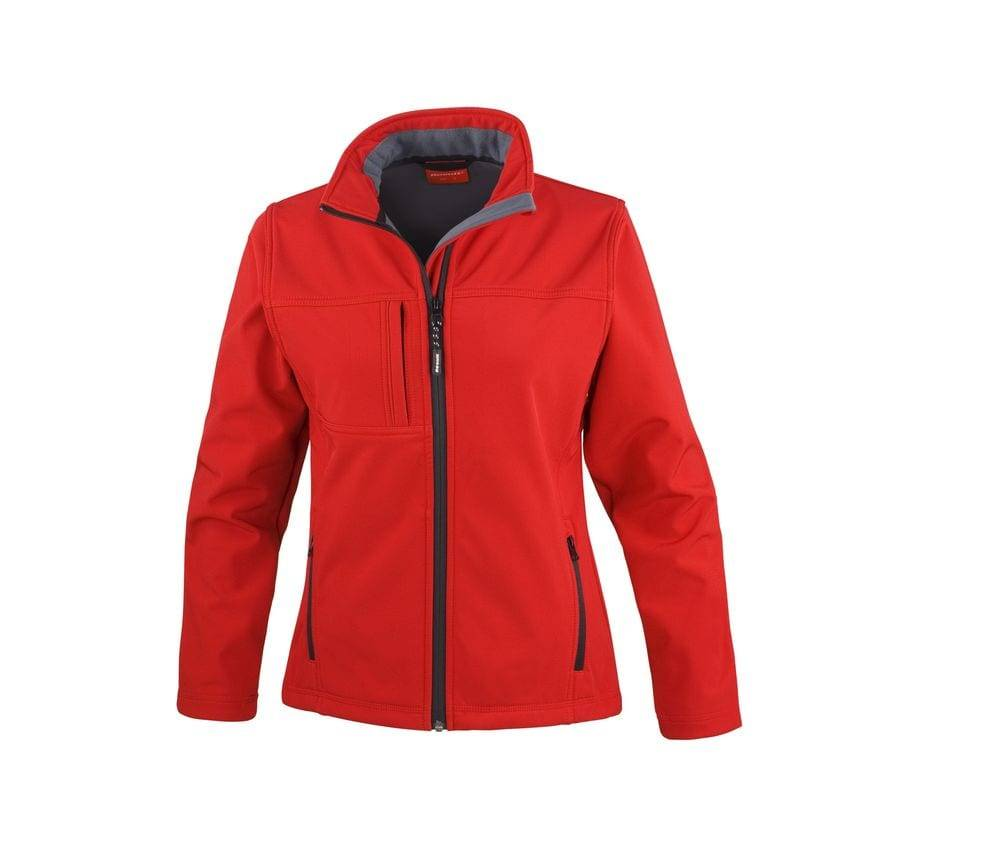 Result Veste classique Softshell 3 couches femme Rouge - Result RS121F - Taille S