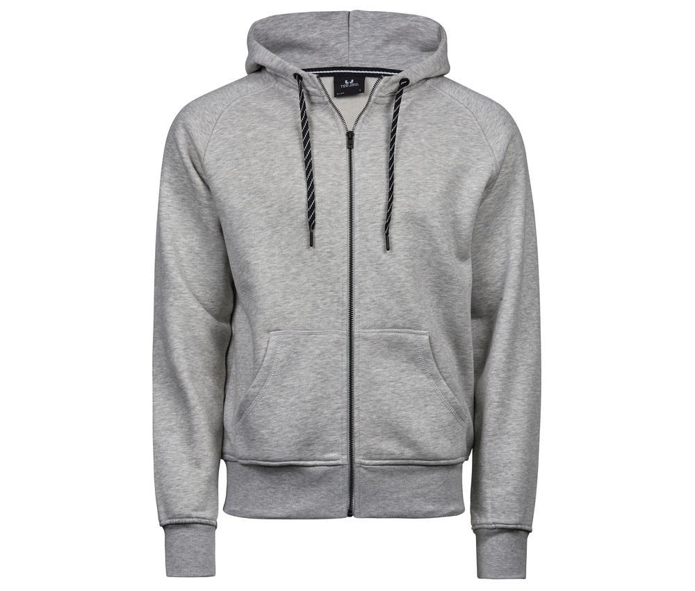 Tee Jays TJ5435 - Sweat zippe homme Heather Grey - Taille M