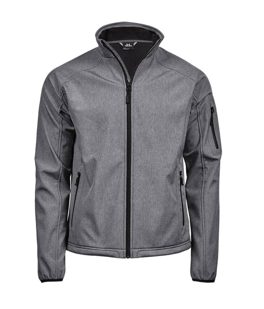 Tee Veste Softshell 3 couches homme Gris clair melange - Tee Jays TJ9510 - Taille 3XL
