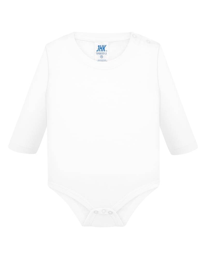 JHK Body bebe LS  Blanc - JHK TSRBBODYLS - Taille 12M