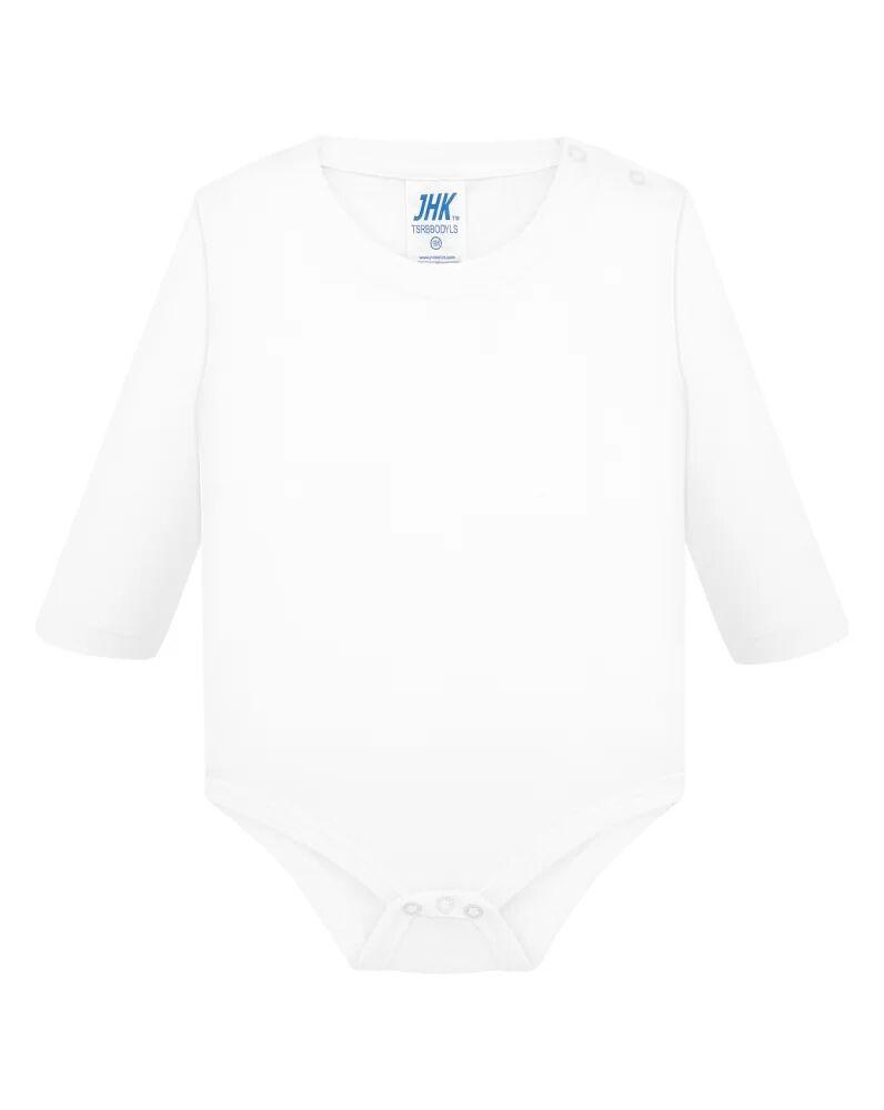 JHK Body bebe LS  Blanc - JHK TSRBBODYLS - Taille 9M