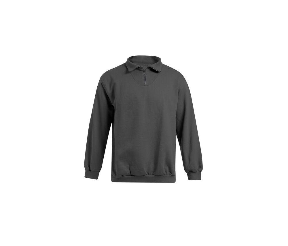 Promodoro PM5050 - Sweat homme col zippé Graphite - L
