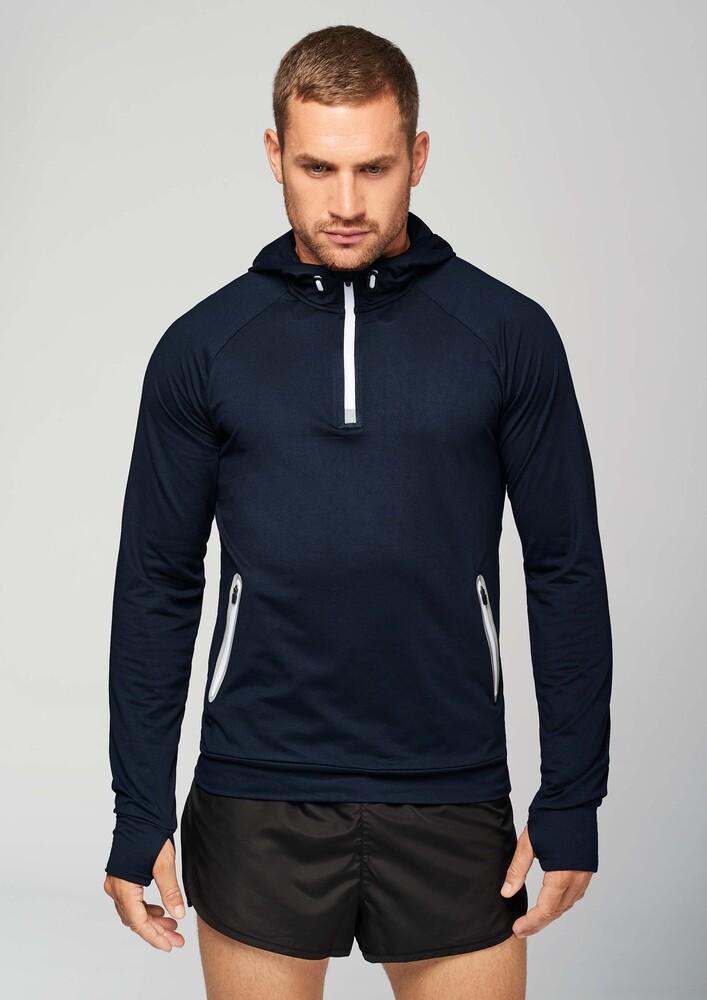 Proact PA360 - Hommes Sweatshirt capuche 1/4 zip sport Dark Grey - L - polyester