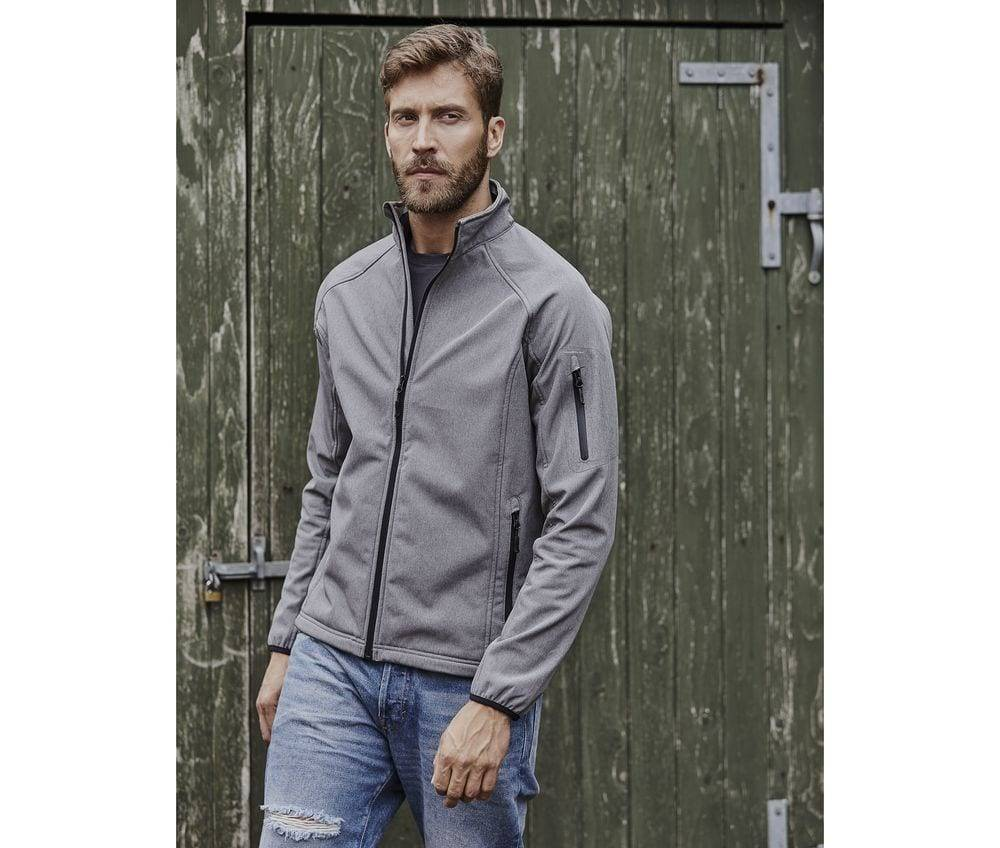 Tee Veste Softshell 3 couches homme Noir - Tee Jays TJ9510 - Taille 2XL