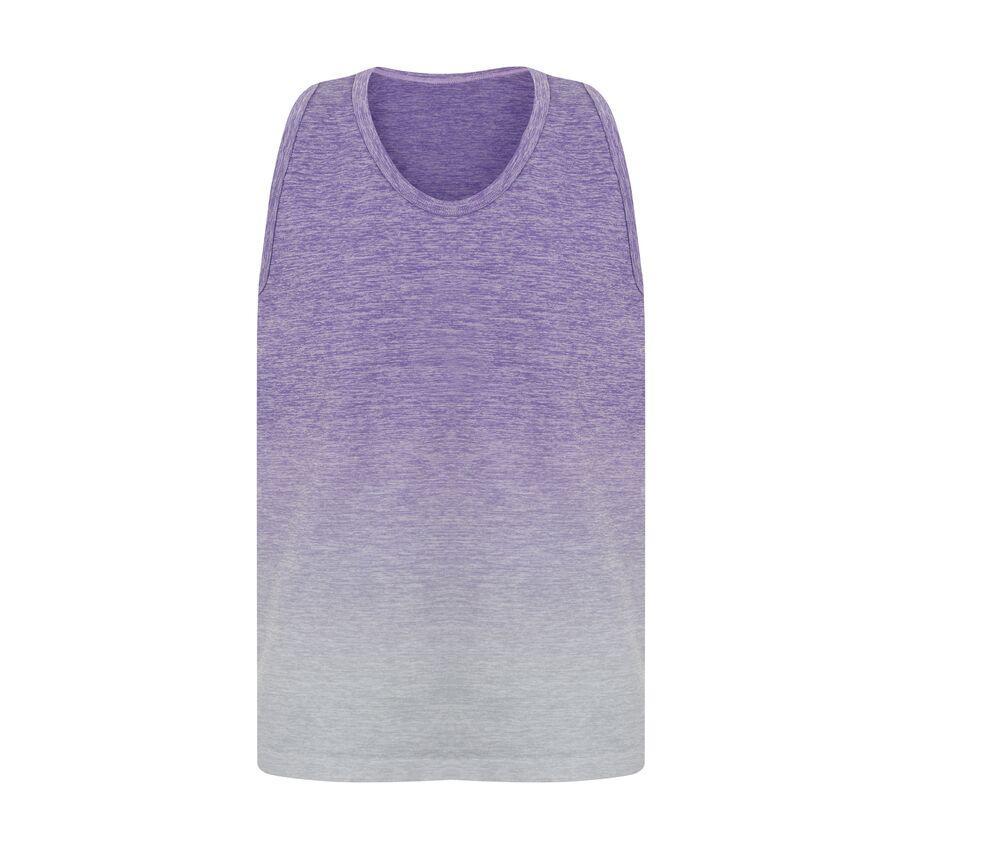 Tombo Debardeur enfant Purple/Light Grey Marl - Tombo TL322 - Taille 06