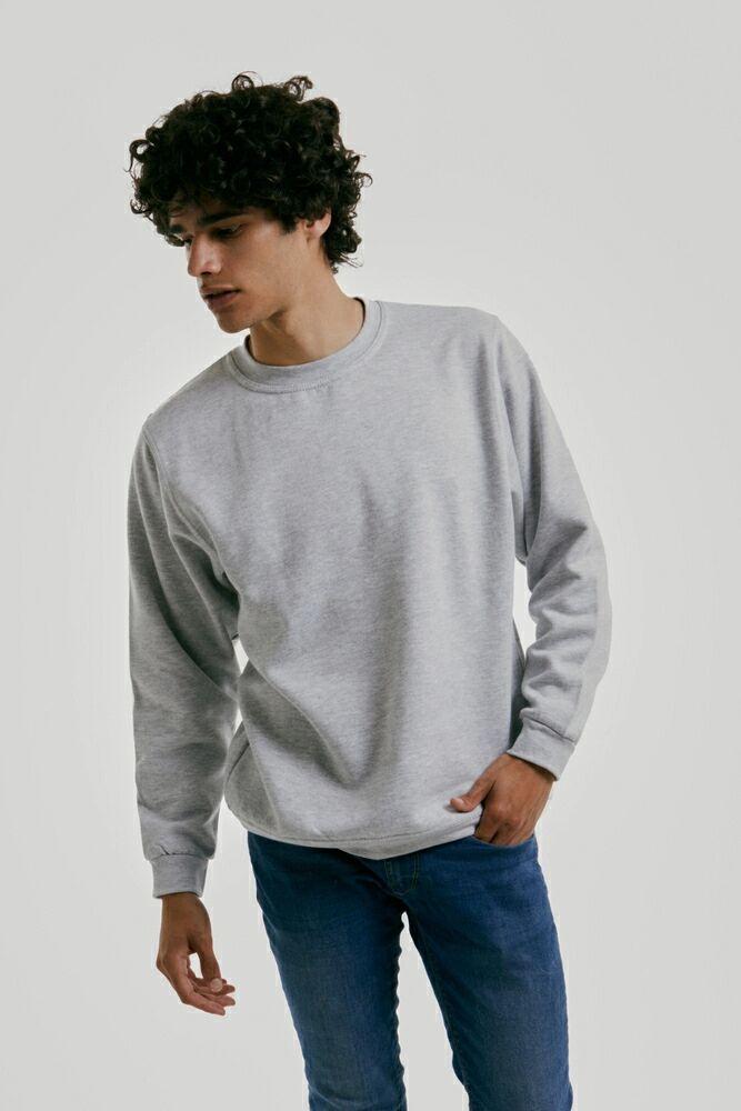 Radsow Apparel - Sweatshirt Col Rond Paris pour hommes UXX03 Noir - Taille L