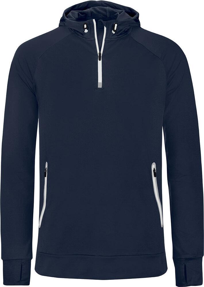 Proact PA360 - Hommes Sweatshirt capuche 1/4 zip sport Marine - L - polyester