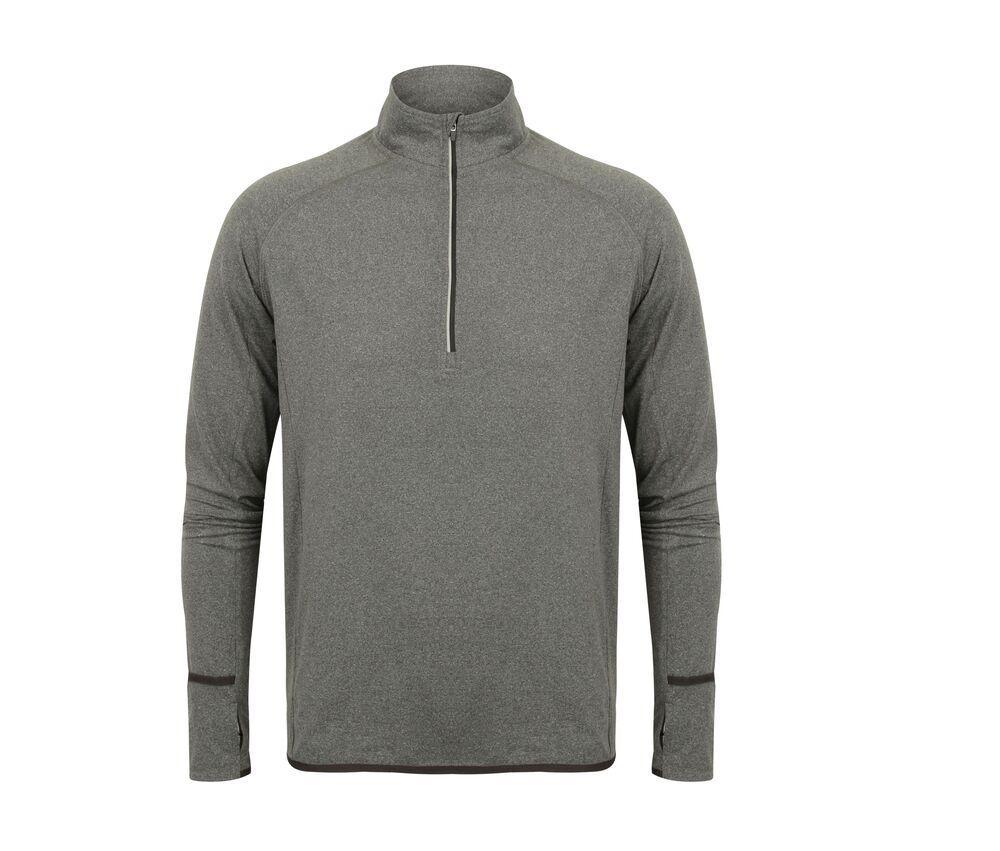 Tombo TL562 - Unisexe 1/4 zip tee-shirt sport Grey Marl - L - polyester