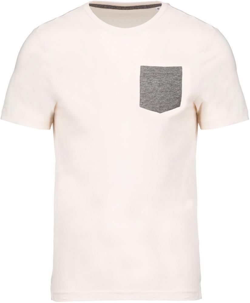 Kariban Pack 50 T-shirt coton bio avec poche Cream/Grey heather - Kariban K375 - Taille 3XL