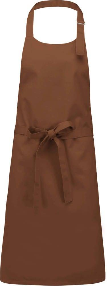 Kariban Pack 50 Kariban K895 - Unisexe Tablier coton sans poche Cacao - Taille One Size