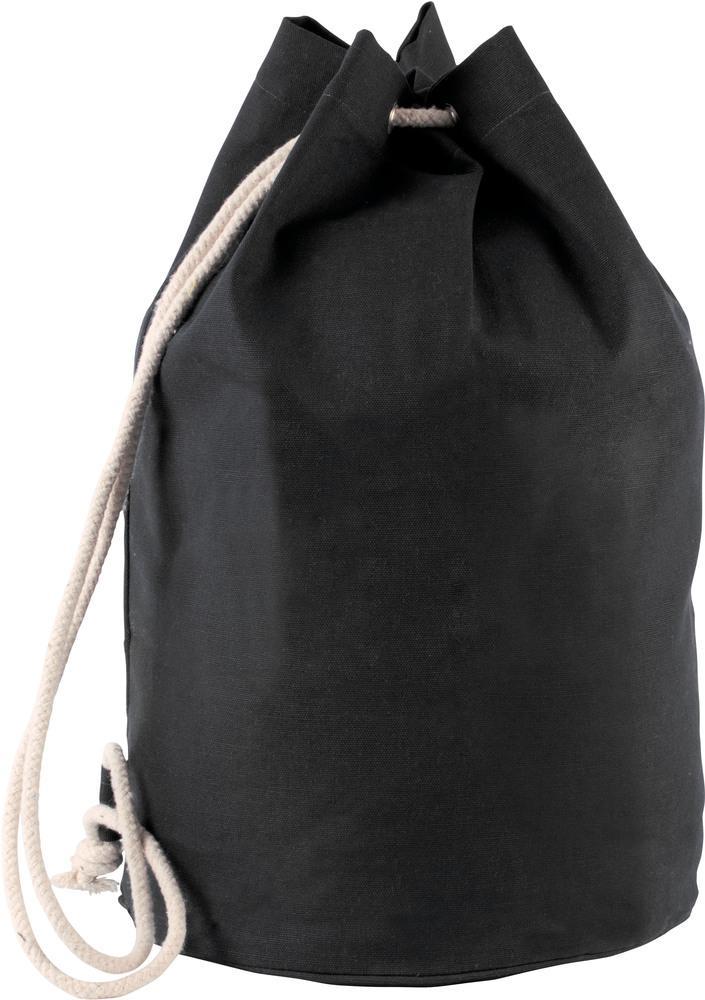 Kimood Pack 50 Kimood KI0629 - Unisexe Sac marin en coton avec cordon Noir