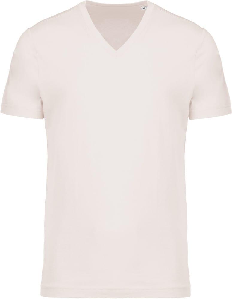 Kariban Pack 50 T-shirt coton bio col V homme Cream - Kariban K376 - Taille S