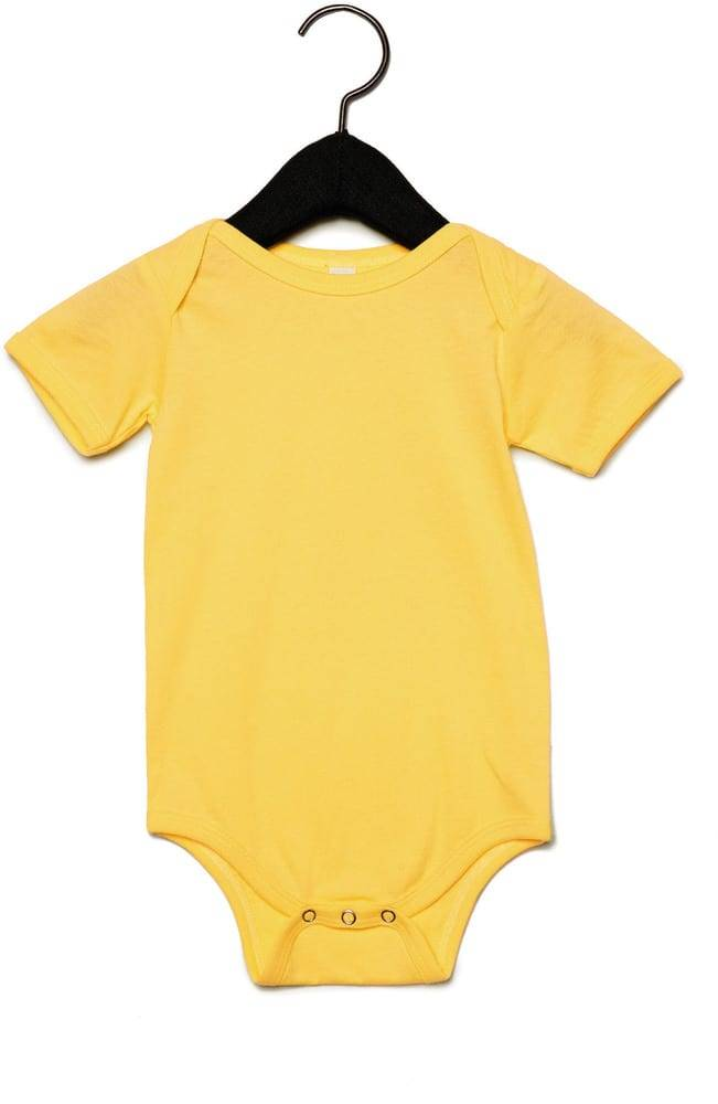 Bella+Canvas Pack 36 Body manches courtes bebe Yellow - Bella+Canvas BE100B - Taille 6/12M