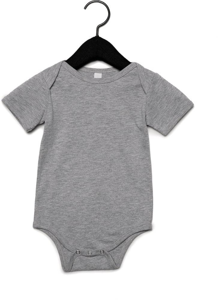 Bella+Canvas Pack 36 Body manches courtes bebe Athletic Heather - Bella+Canvas BE100B - Taille 6/12M
