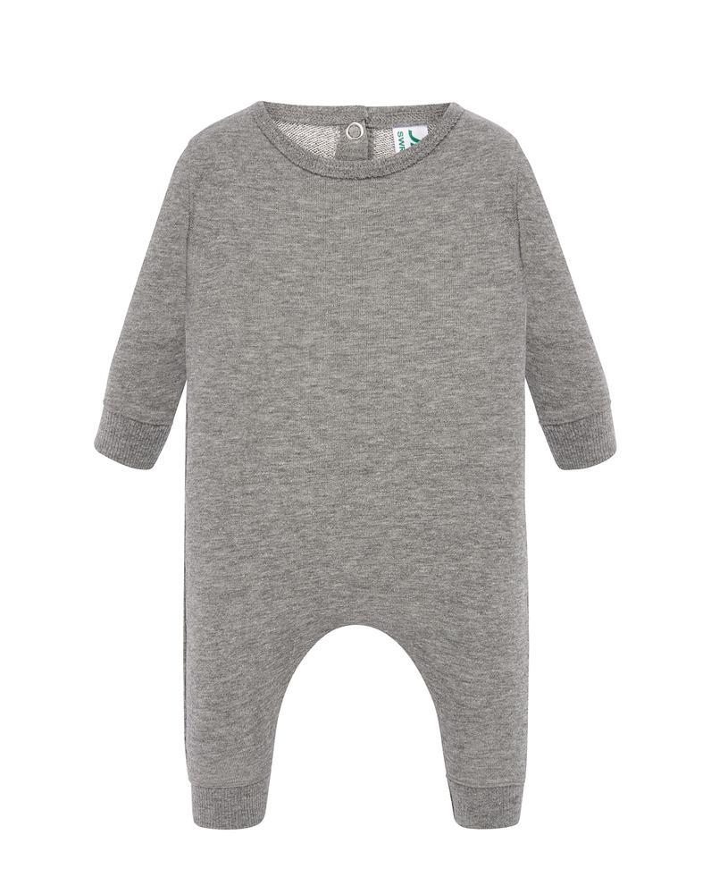 JHK Combinaison pour bebe LS Gris chine - JHK SWRBSUIT - Taille 6M