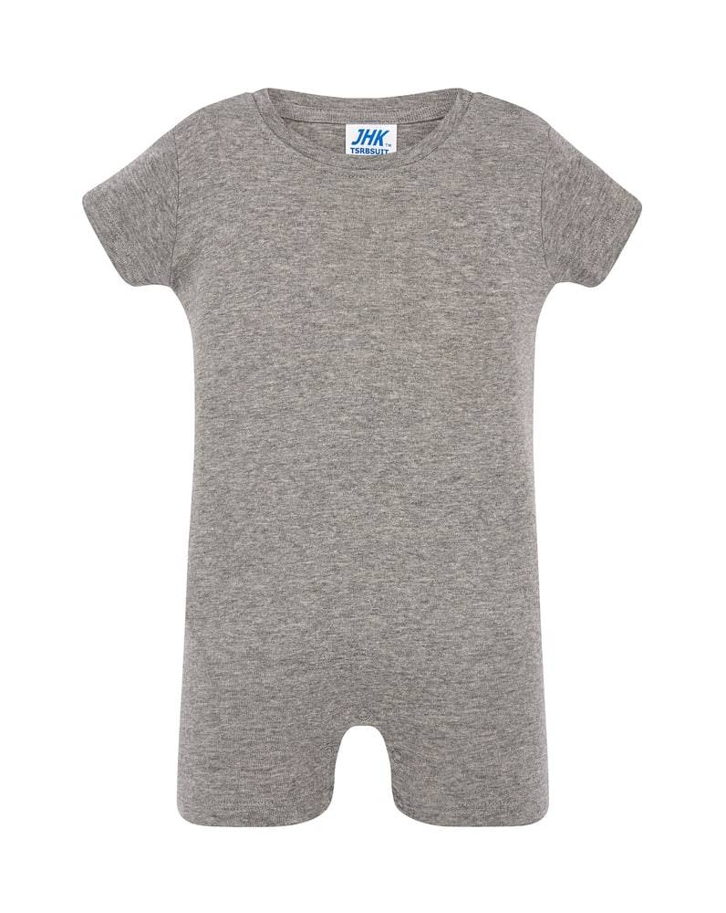 JHK Barboteuse bebe Gris chine - JHK TSRBSUIT - Taille 6M