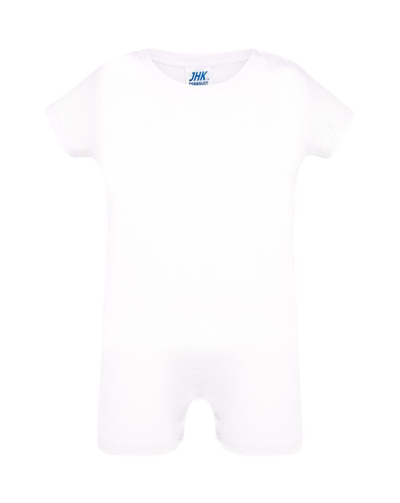 JHK Barboteuse bebe Blanc - JHK TSRBSUIT - Taille 6M