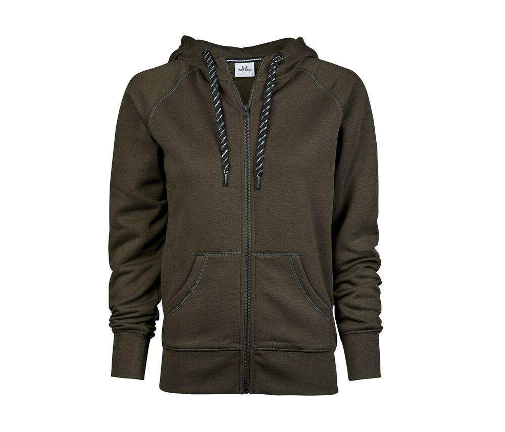 Tee Jays TJ5436 - Sweat zippe femme Dark Olive - Taille M