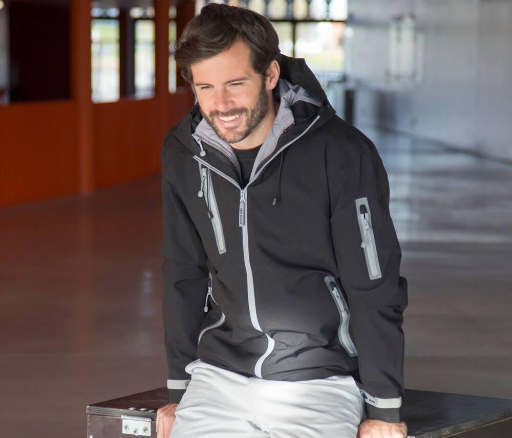Pen Duick PK799 - Hommes Veste technique 3 en 1 Black/Grey - Taille XL
