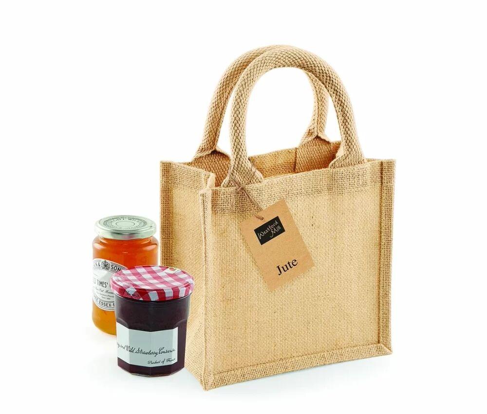 Westford mill WM411 - Unisexe Petit sac cadeau en toile de jute Naturel - Taille 0