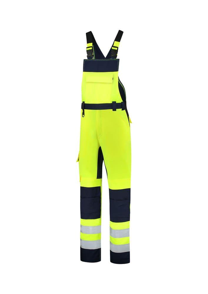 Tricorp T68 - Bib & Brace High Vis Bicolor cottes à brettelle unisex jaune fluorescent - 58