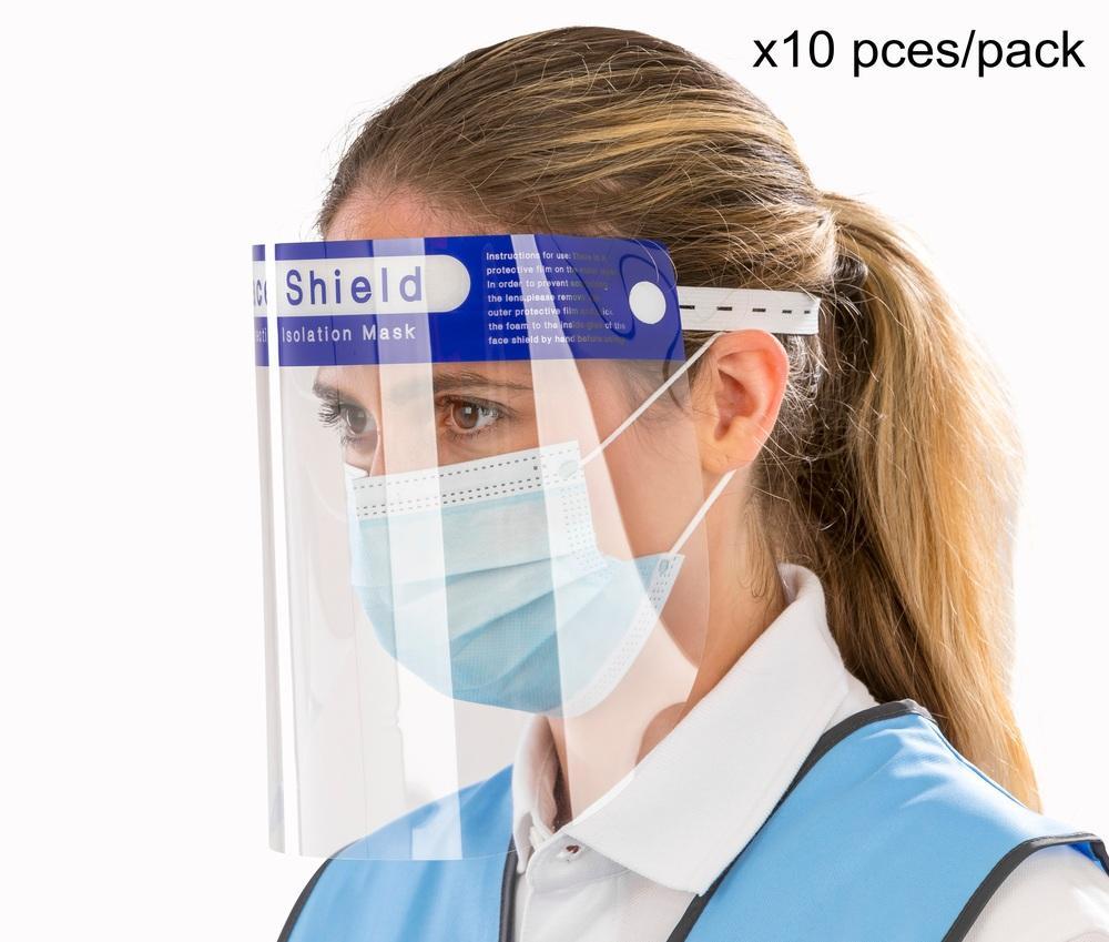 Protection RV008X - Unisexe Visière de protection (pack de 10 pces) Transparent