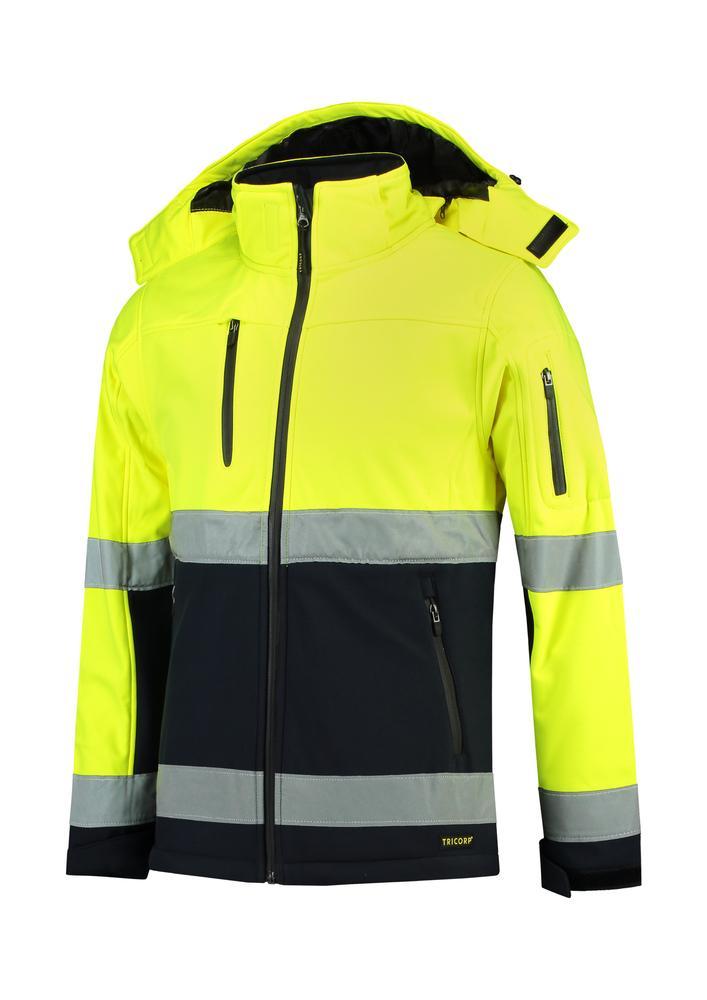 Tricorp T52 - Bi-color EN ISO 20471 Softshell blouson softshell unisex jaune fluorescent - 4XL