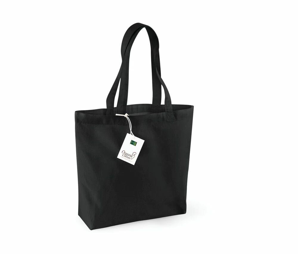 Westford mill WM180 - Sac Shopping 100% Bio Noir - Taille One Size - organic