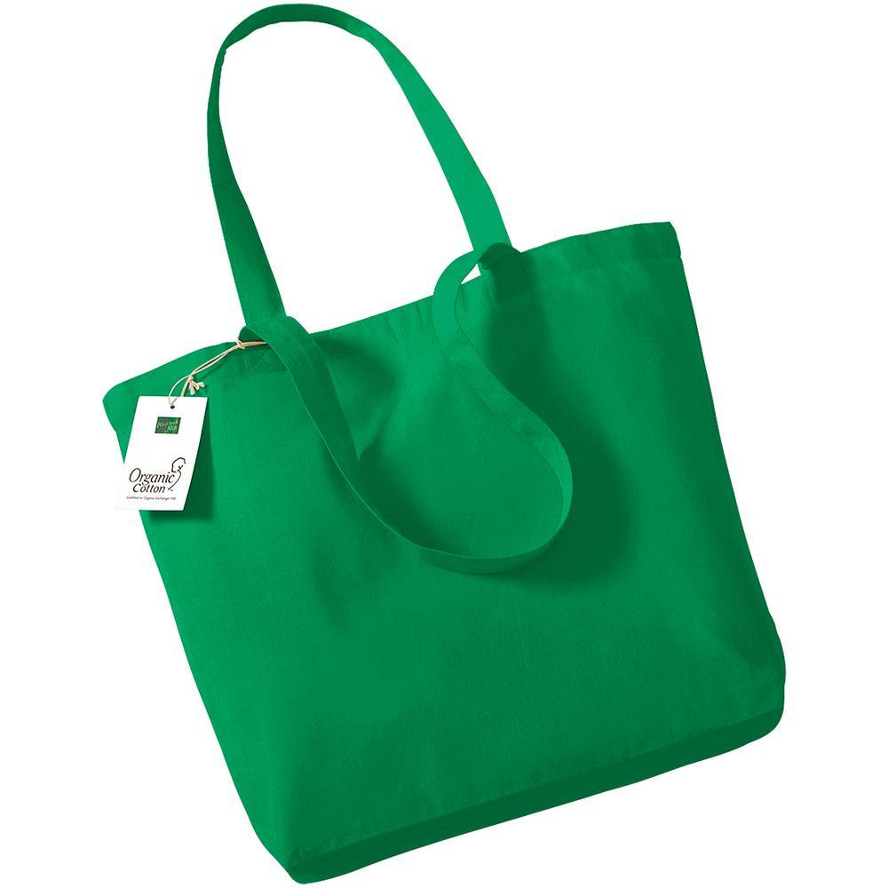 Westford mill WM180 - Sac Shopping 100% Bio Vert Kelly - Taille One Size - organic
