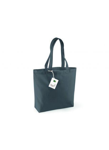 Westford mill WM180 - Sac Shopping 100% Bio Graphite Grey - Taille One Size - organic