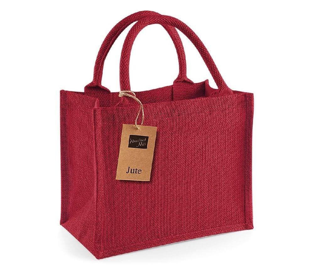 Westford mill WM412 - Petit Sac en Toile de Jute Red/Red - Taille One Size