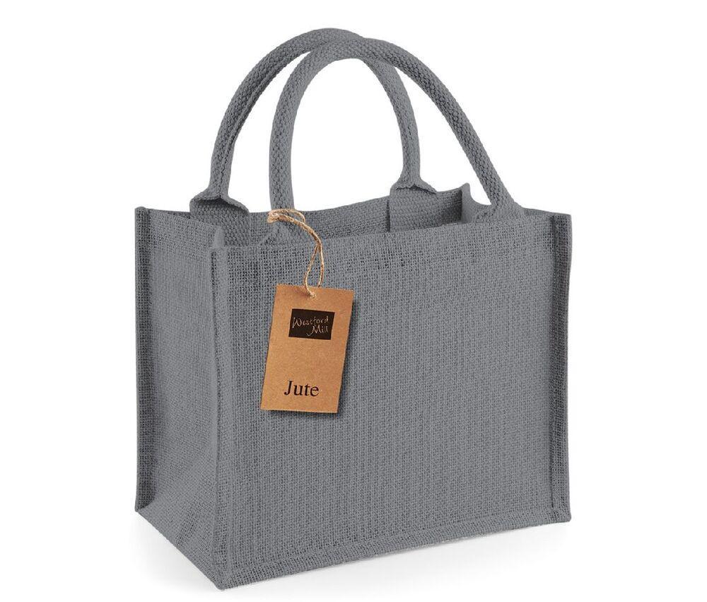 Westford mill WM412 - Petit Sac en Toile de Jute Graphite Grey/Graphite Grey - Taille One Size