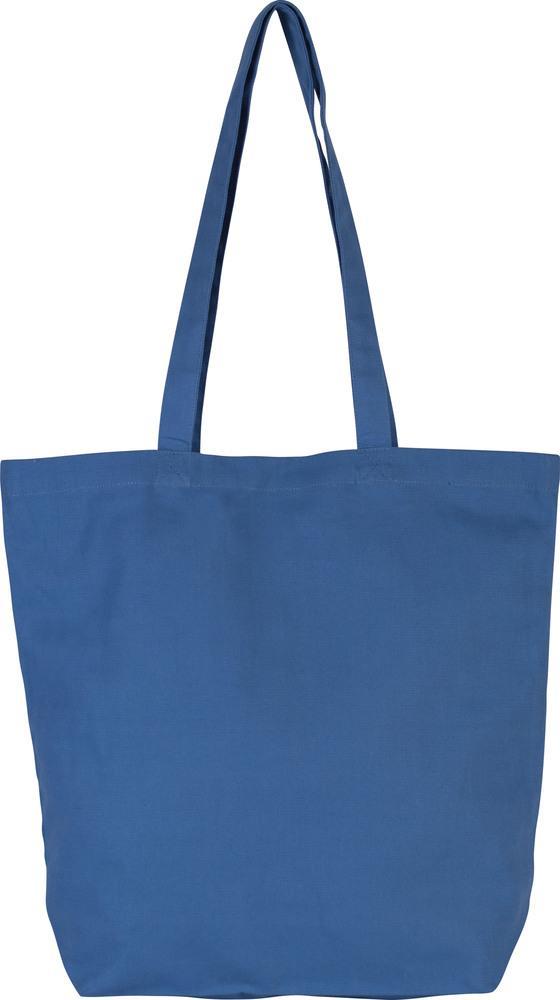 Kimood Pack 50 Kimood KI0252 - Sac cabas en coton bio Dusty Blue