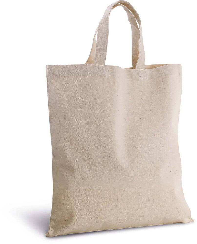 Kimood Pack 50 Kimood KI0249 - Sac shopping en coton canvas Naturel
