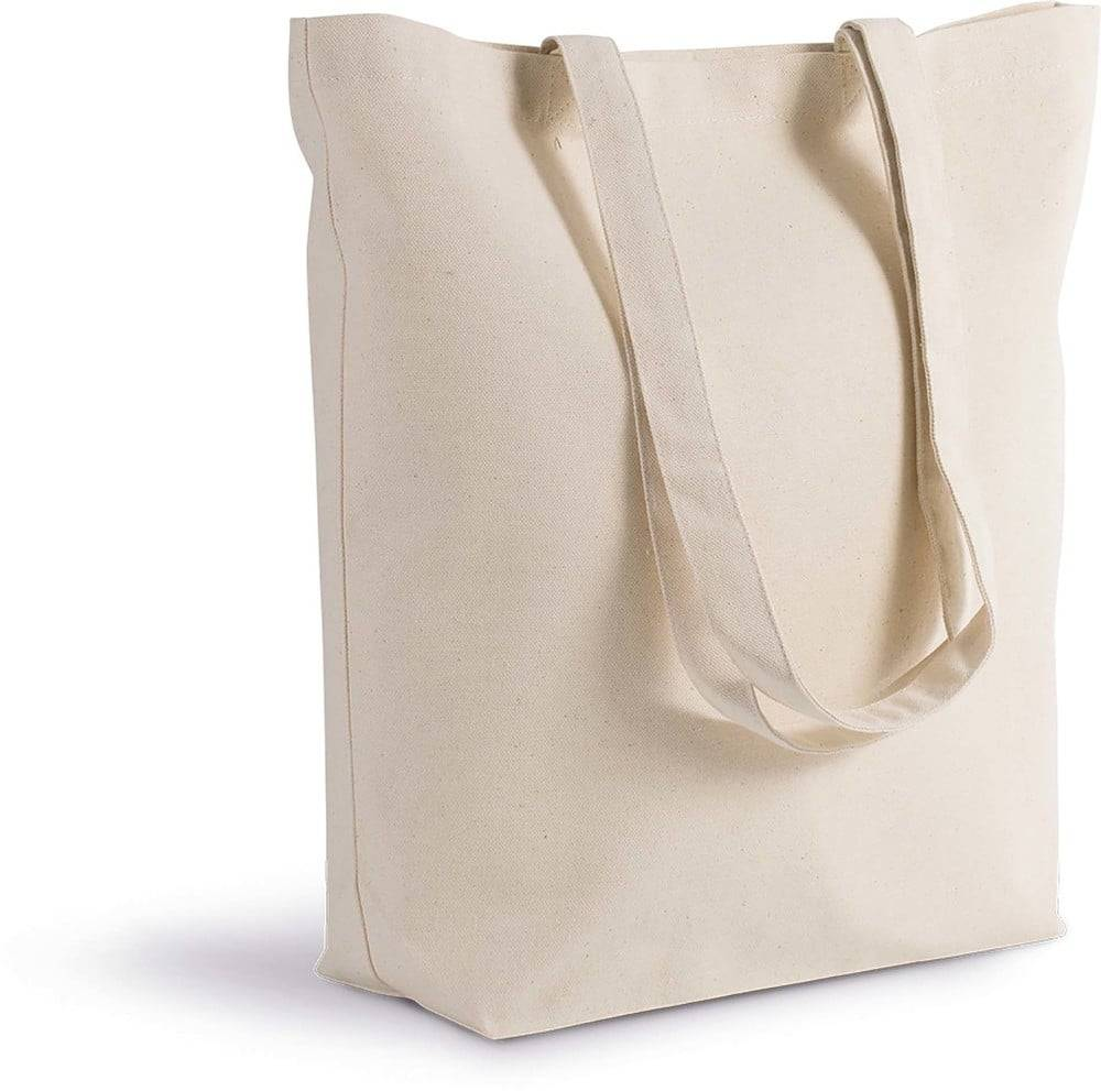 Kimood Pack 50 Kimood KI0252 - Sac cabas en coton bio Noir