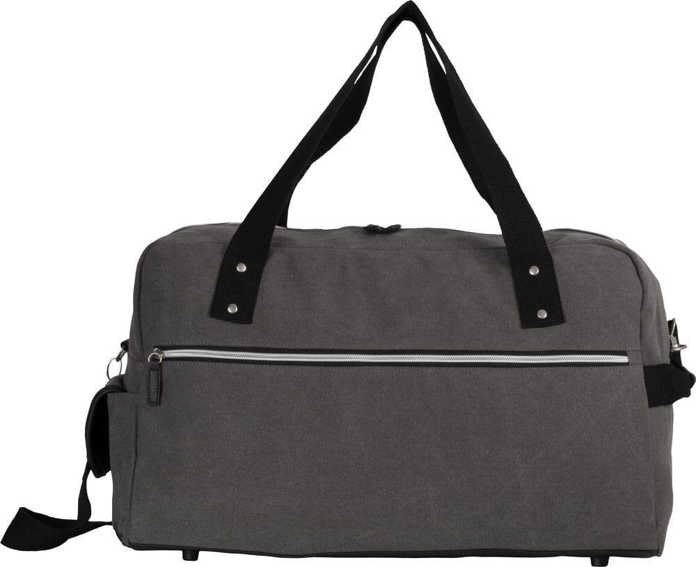 Kimood Pack 15 Kimood KI0636 - Sac de voyage en coton canvas Washed Dark Grey