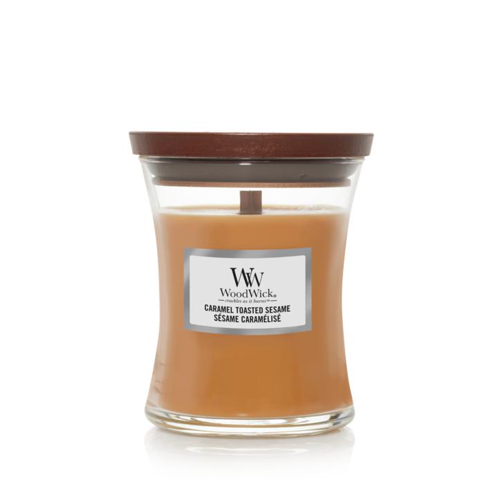 WoodWick Bougie Medium Caramel Toasted Sesame