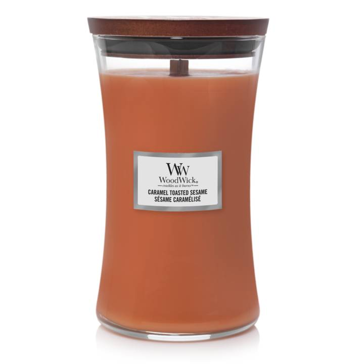 WoodWick Bougie Large Caramel Toasted Sesame