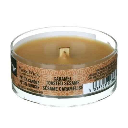 WoodWick Bougie Petite Caramel Toasted Sesame
