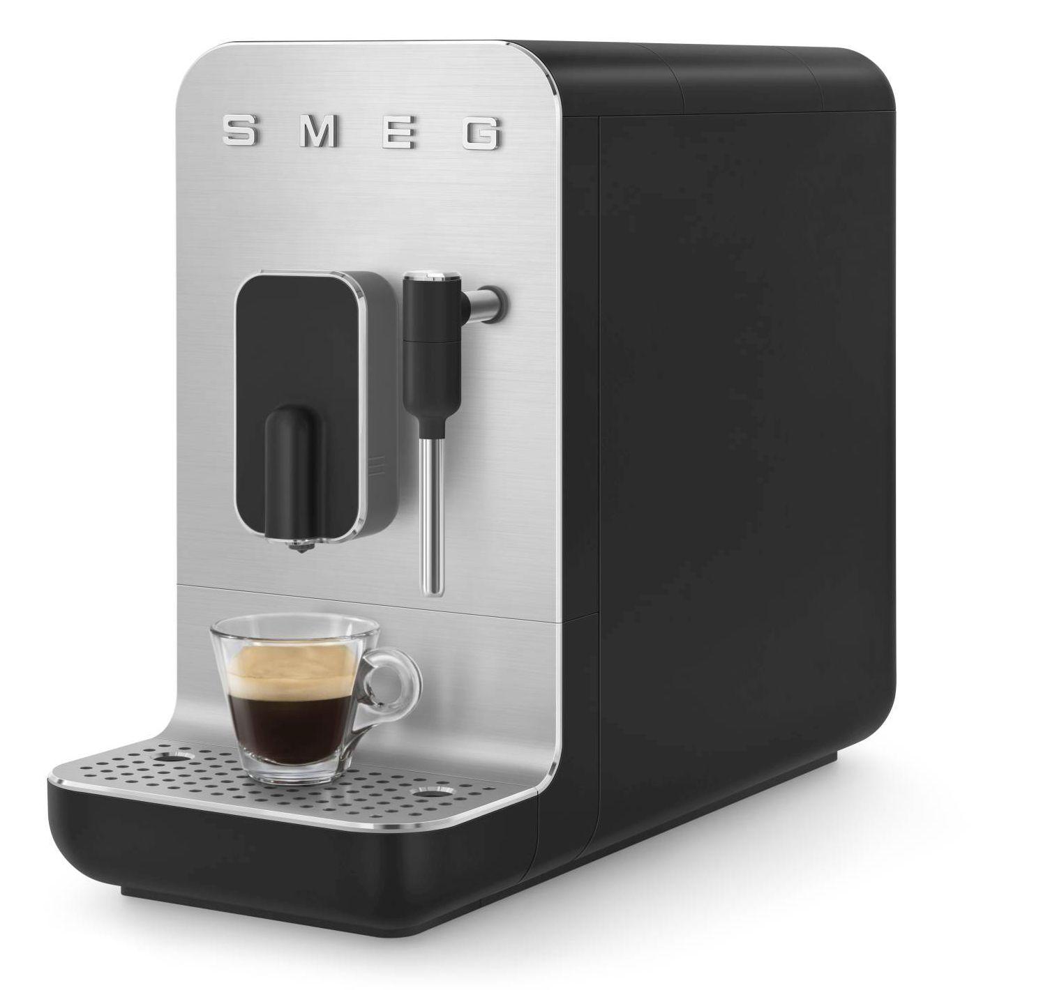 SMEG Machine à Café SMEG avec Broyeur Intégré Noir BCC02BLMEU