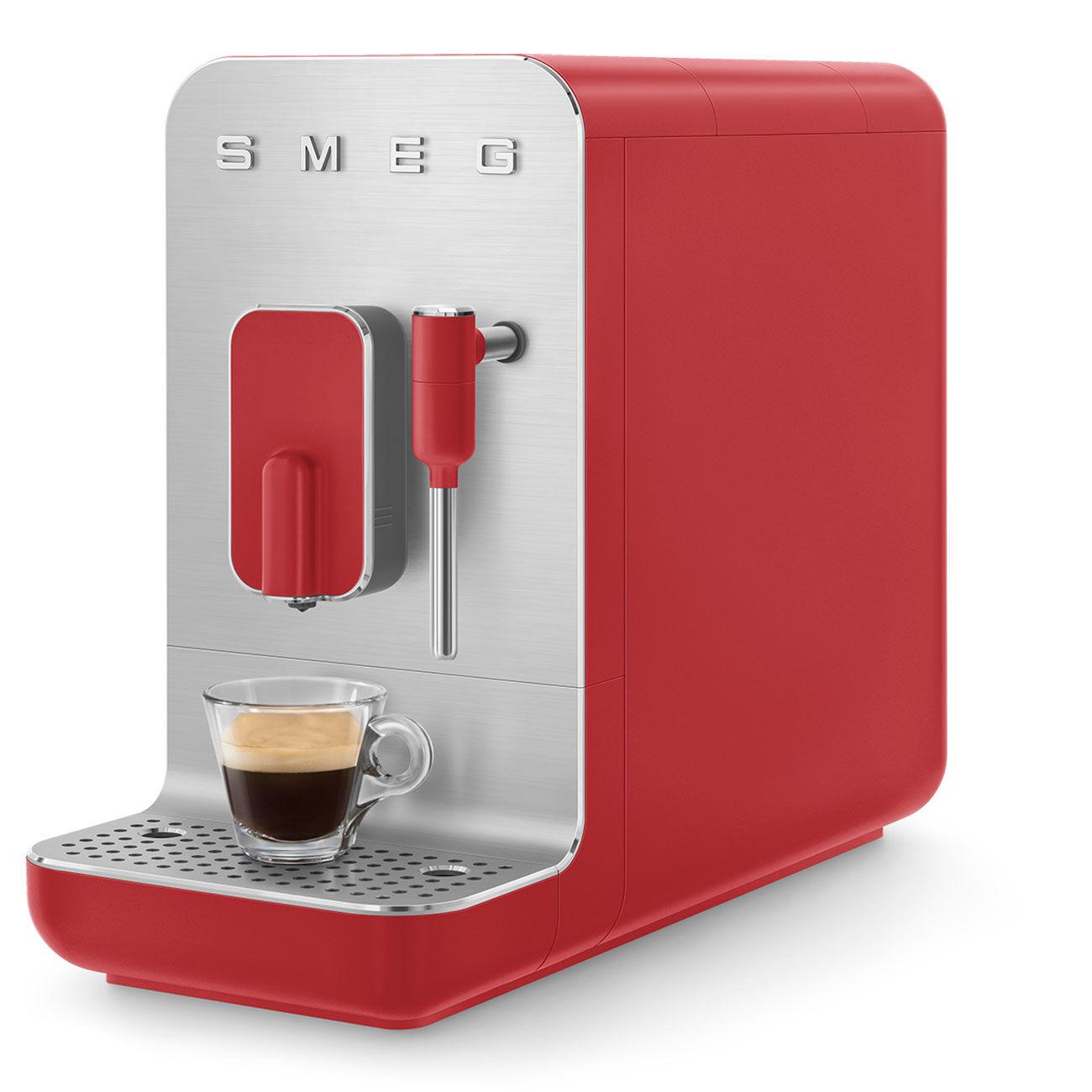 SMEG Machine à Café SMEG avec Broyeur Intégré Rouge BCC02RDMEU