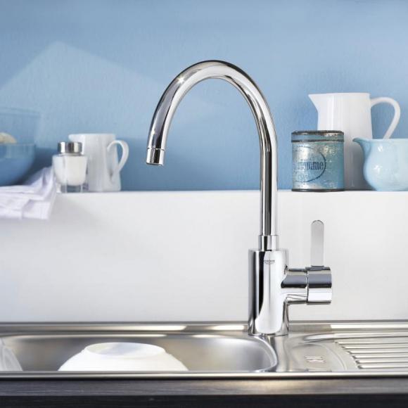 Grohe Eurosmart Cosmopolitan Mitigeur monocommande évier DN15, pour chauffe-eau à écoulement libre, 31180000