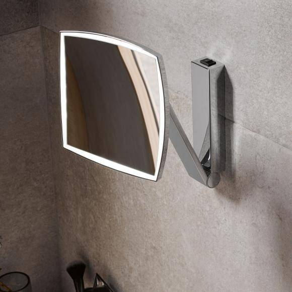 Keuco iLook_move Miroir cosmétique l : 200 H : 200 mm, éclairage à 1 couleur, 17613019004