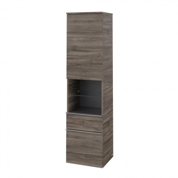 Villeroy & Boch Venticello Armoire haute avec étagère centrale ouverte, 2 tiroirs et 1 porte, A95211RK