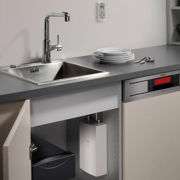AEG DDLE Chauffe-eau instantané compact avec commande à distance, régulation électronique, 20 à 60 °C, 230769