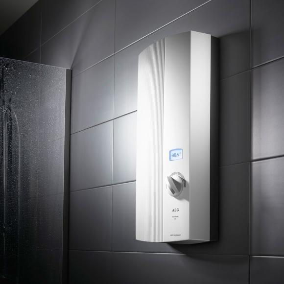 AEG DDLE LCD Chauffe-eau instantané, régulation électronique, 30 à 60°C, 222392