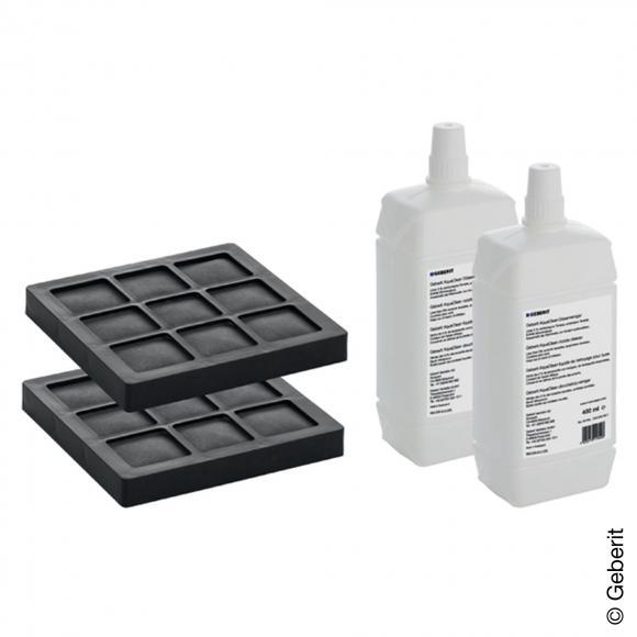 Geberit AquaClean Kit de 2 filtres à charbon actif et 2 produits nettoyants pour buses NEW pour AquaClean 8000plus et Balena 8000, 4025416864080