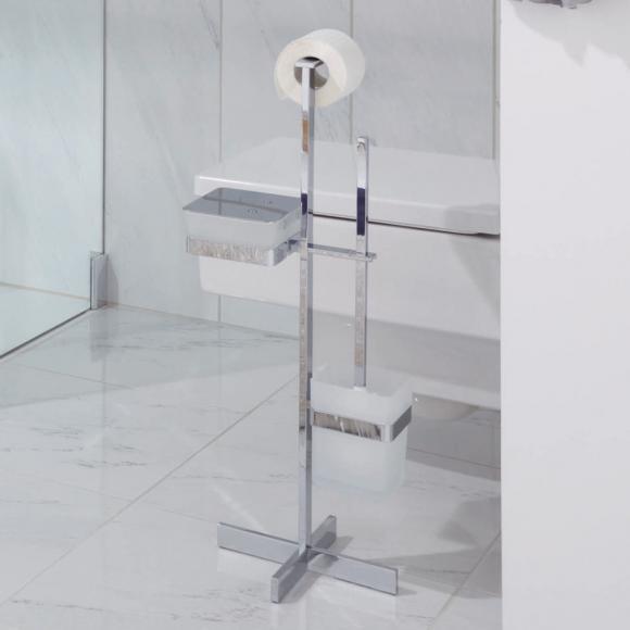 Giese SOLID Porte-brosse WC avec récipient à lingettes, 31789-02