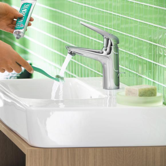 Hansgrohe Novus Mitigeur monocommande lavabo 100, pour chauffe-eau à écoulement libre, avec garniture de vidage, 71036000