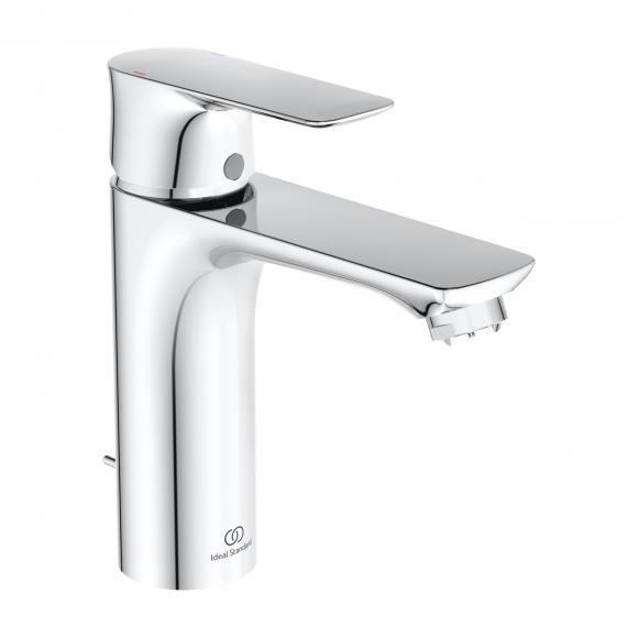 Ideal Standard Air Mitigeur de lavabo monocommande GRANDE, pour chauffe-eau basse pression, avec garniture de vidage, A7054AA